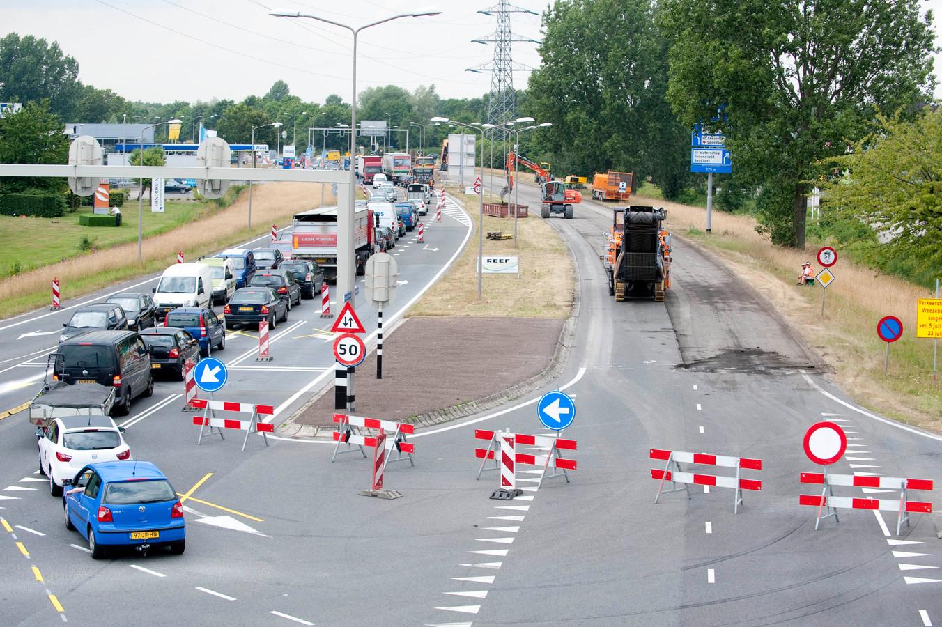 De Weezebeeksingel is in het verleden al eens vaker afgesloten voor wegwerkzaamheden, zoals in 2010.