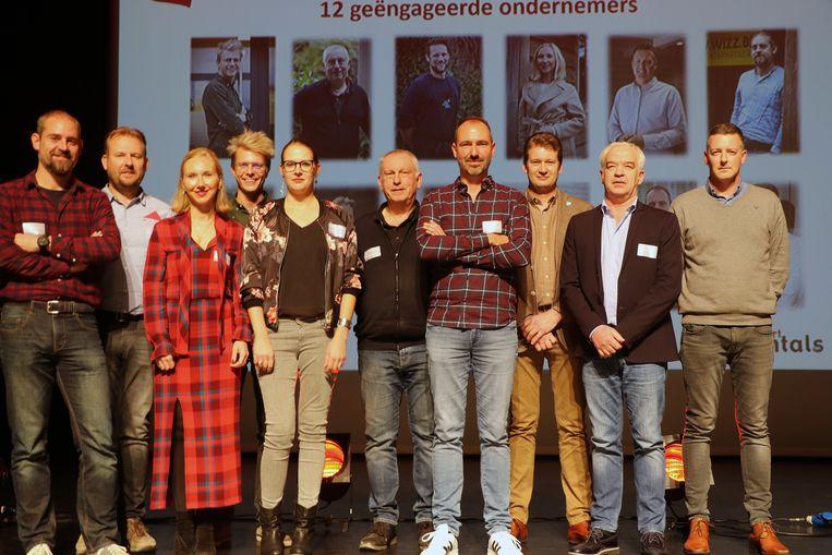 Tony Van Orshaegen (tweede van rechts) is de nieuwe voorzitter van Handelshart Herentals.