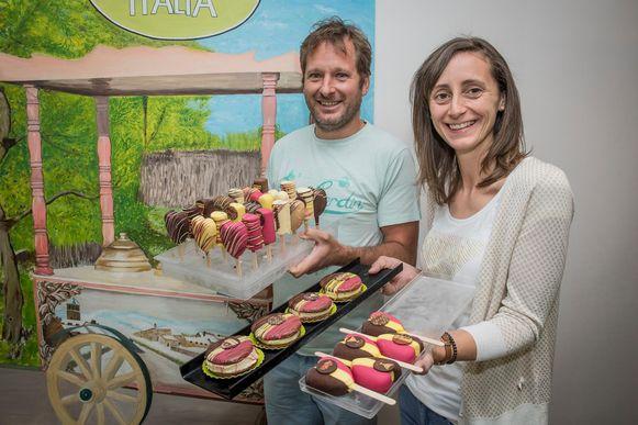 Bert Watteny en Wendy Vanden Nest van Gelateria Italia.