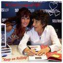 Jolanda Donks met Ron Wood bij Selfridges in Londen.