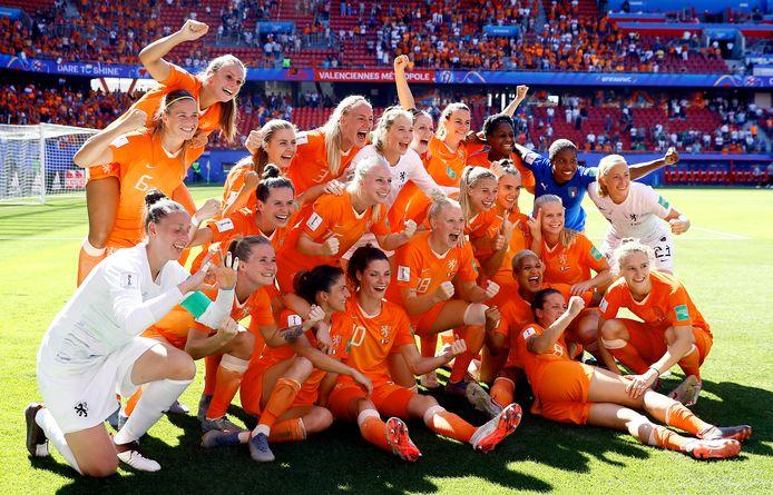 De Nederlandse voetbalsters bereikten vorig jaar de finale van het WK.