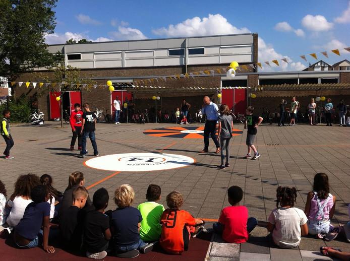 Cruyffplein bij de Omnibusschool in Vlissingen.