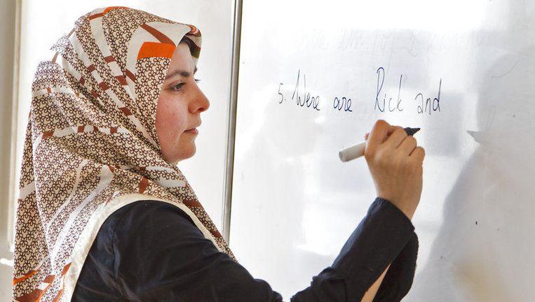 Lerares op het Islamitisch College Amsterdam. Foto ANP Beeld
