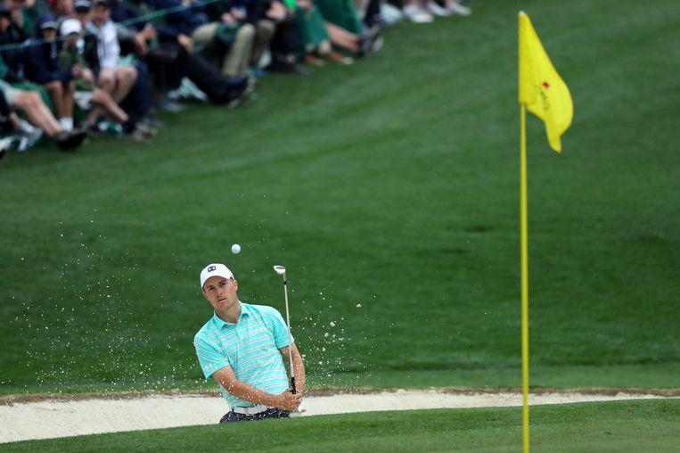 Jordan Spieth (VS) in Augusta. Beeld REUTERS