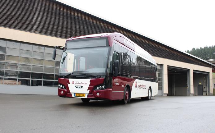 Een VDL-bus die is verkocht aan een vervoermaatschappij in Luxemburg.