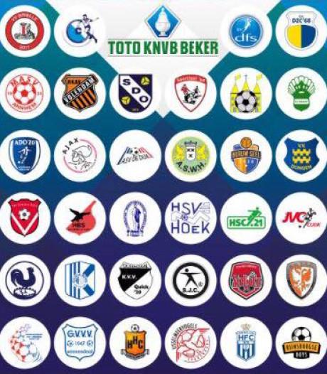 Programma Brabantse clubs eerste ronde KNVB-beker