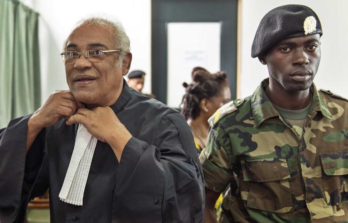 Hugo Essed, advocaat van de nabestaanden, bij de rechtbank