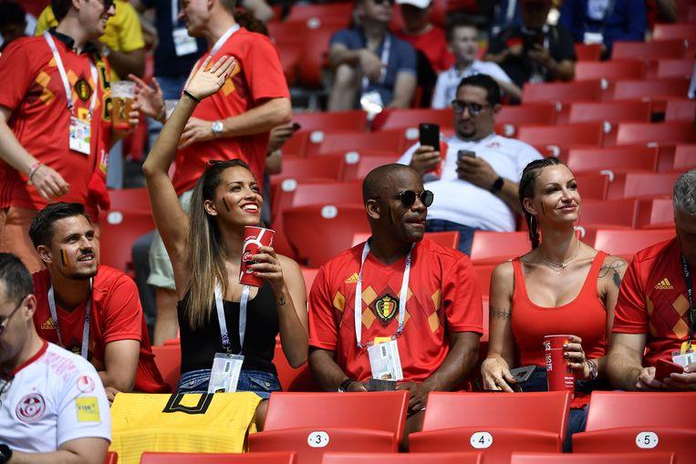 Ook papa Thierry Witsel zit in het stadion.