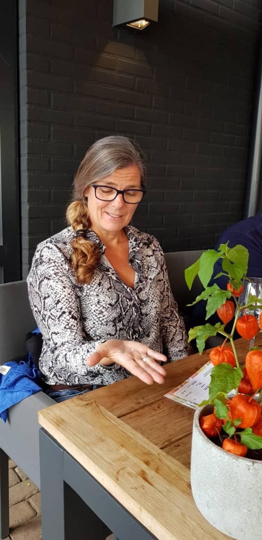Karin de Winter trof een parel aan in haar oester.
