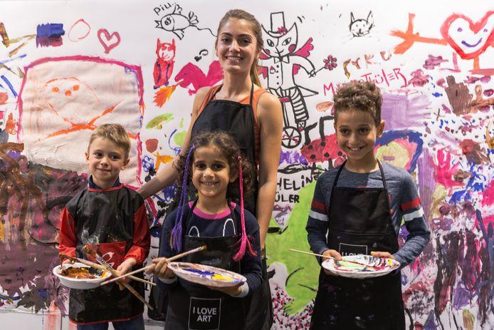 Ook kinderen komen aan hun trekken op de Art Fair.