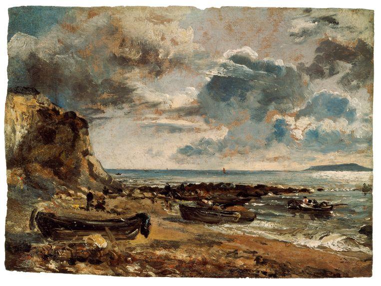 Het strand bij Osmington Mills, 1816, olieverf op doek  Beeld John Constable / Teylers Museum