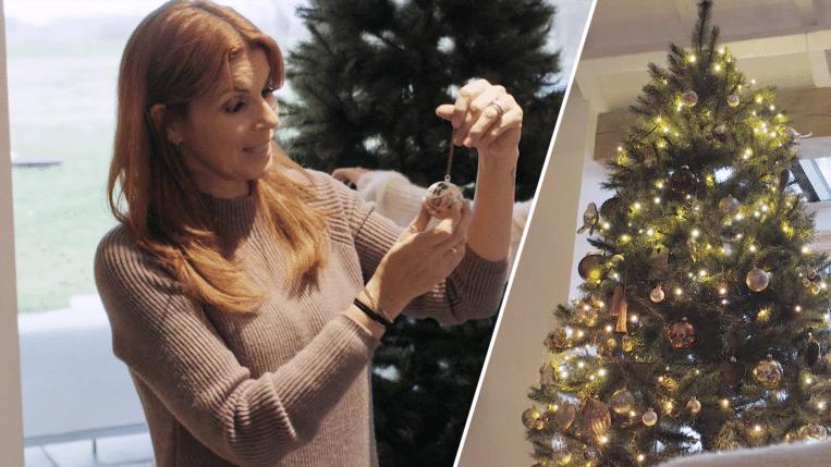 Katja Retsin en haar kerstboom