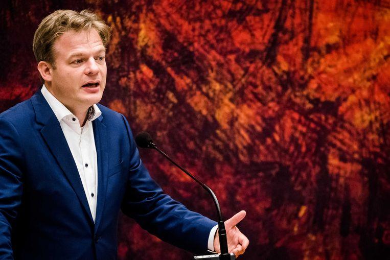Pieter Omtzigt (CDA) tijdens een debat in de Tweede Kamer. Beeld ANP