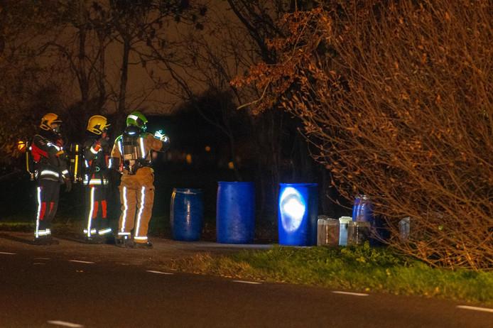 In Bodegraven is vannacht drugsafval aangetroffen.
