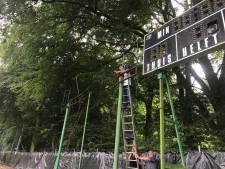 Geen wedstrijden, wel reclameborden op Wageningse Berg