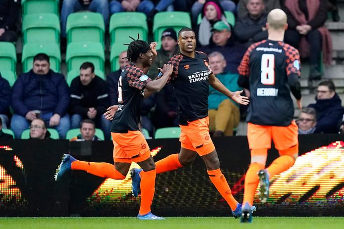De voorlopig laatste wedstrijd van PSV, in Groningen. Op 4 april staat een nieuw duel gepland, thuis tegen Heracles Almelo. De onzekerheid is nog groot.
