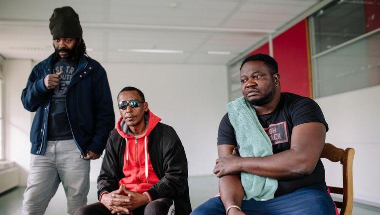 De 'We Are Here' groep in Uilenstede Amstelveen Beeld Marc Driessen