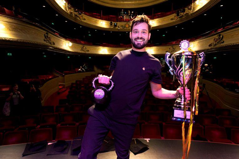 Cabaretier Jasper van der Veen, winnaar van het Leids Cabaret Festival Beeld Martin Oudshoorn