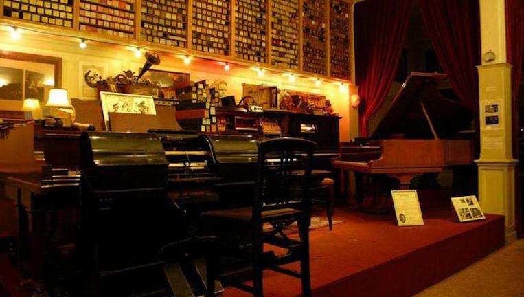 De collectie van het museum omvat veel pianola's. Beeld Pianolamuseum