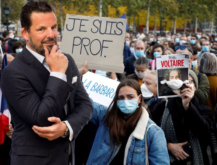 Jerry Goossens Frankrijk protest Samuel Paty