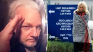"""Pamela Anderson bezoekt """"onschuldige"""" Julian Assange in gevangenis"""
