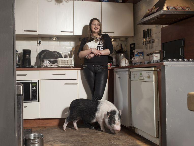 Mandy van Scheppingen en Spekkie Beeld Friso Keuris