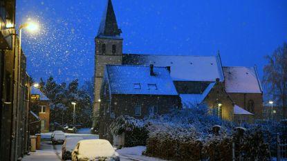 Leuven wordt wakker onder laagje sneeuw
