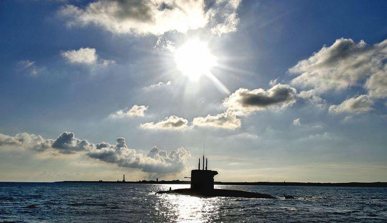 Een van der vier onderzeeërs van de Marine. Beeld null