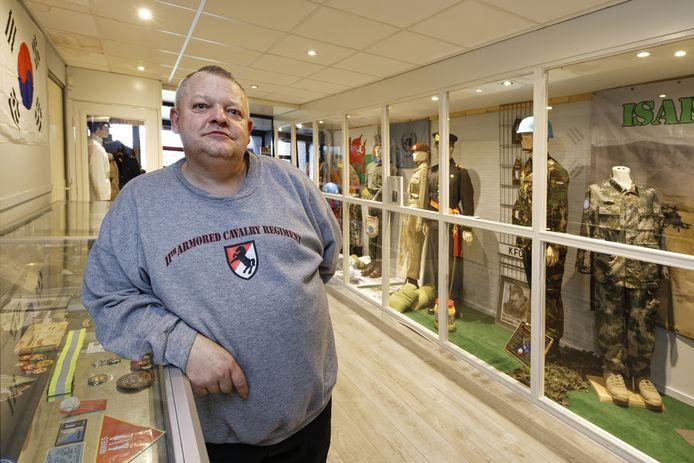 Voorzitter Jeroen Stam van veteranencentrum Ouwestomp. De komende tien jaar aan De Fuik.