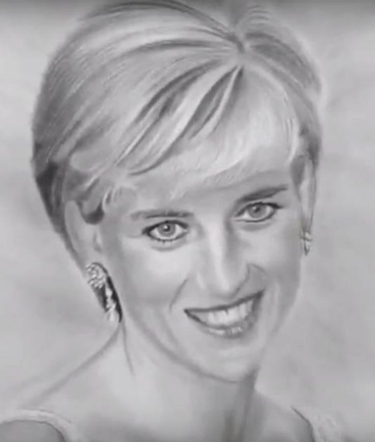 Diana kort voor haar dood in 1997.