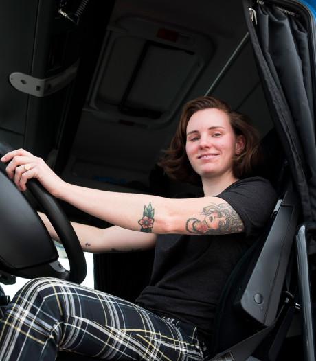 Vrachtwagens besturen een mannenbaan? Niets ervan, vindt chauffeuse Babette (24) uit Zeist