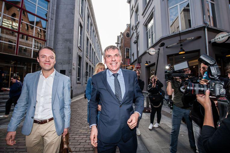 Sam Van Rooy en Filip Dewinter van Vlaams Belang