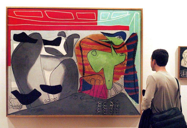 Tentoonstelling van Le Corbusier in Madrid, 2006. 'Le Corbusier was niet alleen architect, maar ook een begenadigd kunstenaar.' Beeld epa