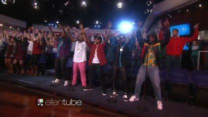 'Ellen'-publiek volledig uit zijn dak op 'Uptown Funk'