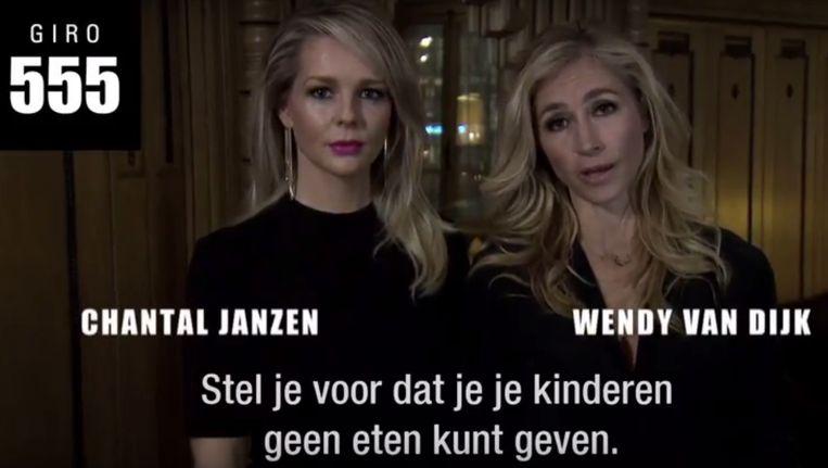 Beeld uit een giro555-oproep door Chantal Janzen en Wendy van Dijk. Beeld null