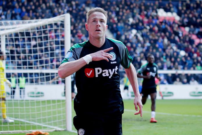 Gladon heeft gescoord namens FC Groningen op bezoek bij sc Heerenveen.