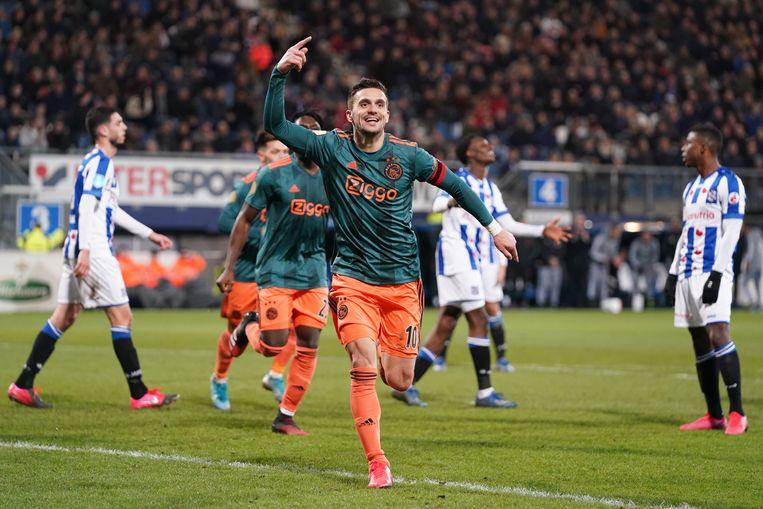 Dusan Tadic scoorde in maart tegen Heerenveen. Beeld BSR Agency
