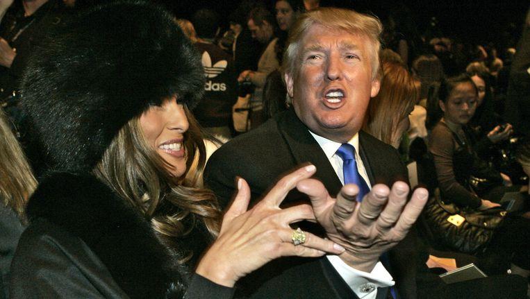 Donald Trump met zijn vrouw Melania, een voormalig fotomodel uit Slovenië. Beeld AP