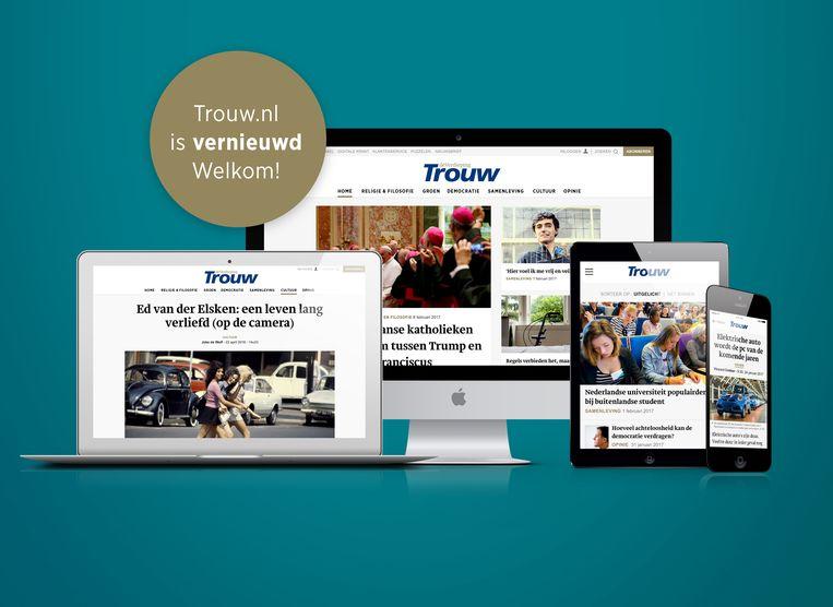 Lancering nieuwe website Trouw. Beeld Trouw