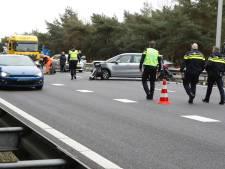 Gewonde bij ongeluk met meerdere auto's op A67 bij Geldrop