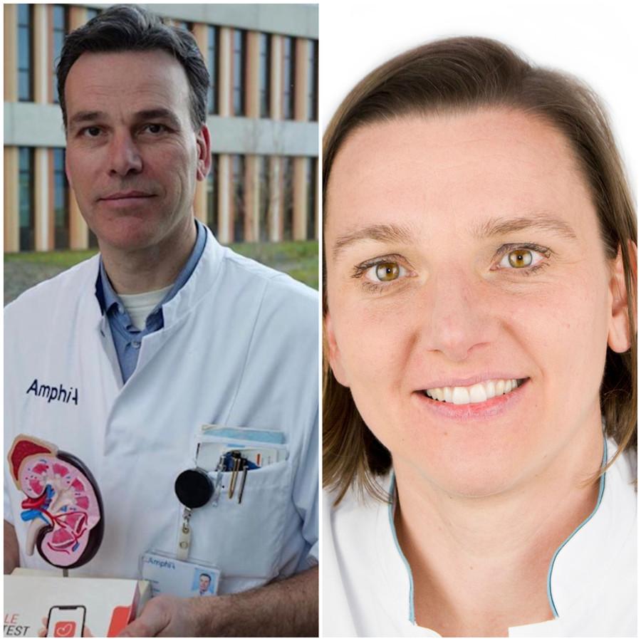 Internist Ronald van Etten en longarts Ingrid de Backer van het Amphia Ziekenhuis.