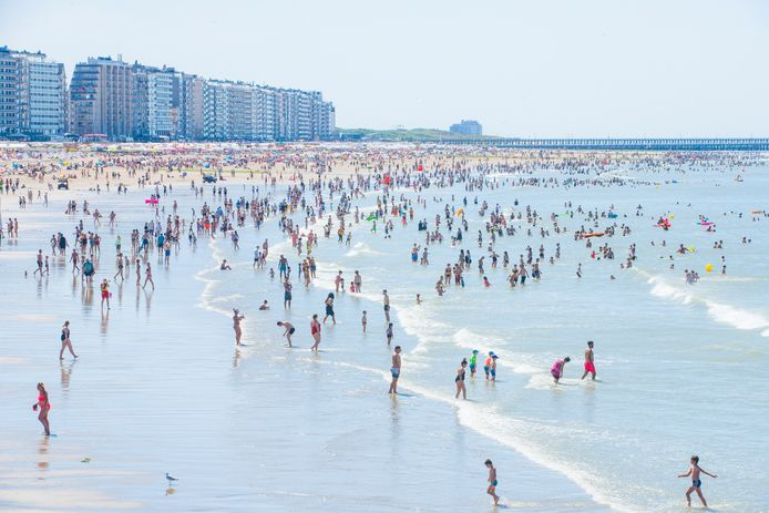 La plage de Blankenberge, le 31 juillet dernier.