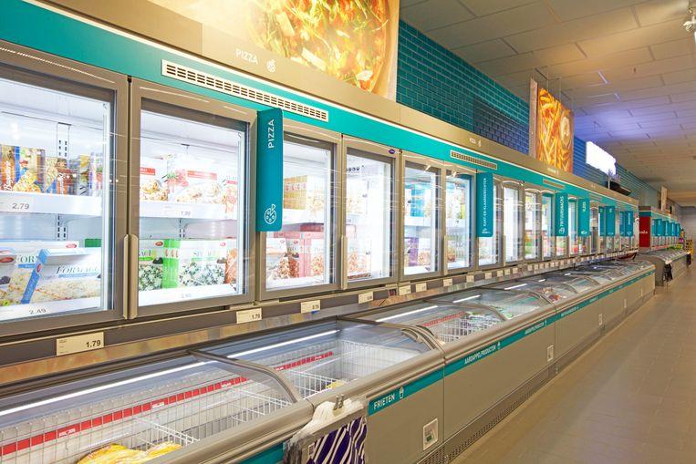 Een toekomstbeeld van het nieuwe interieur: de moderne diepvriesafdeling.