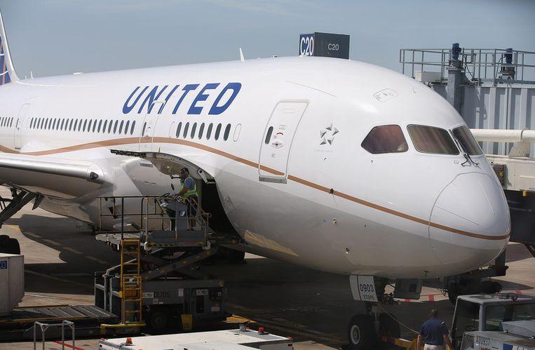 Een Boeing 787 Dreamliner van United Airlines (Illustratiebeeld).