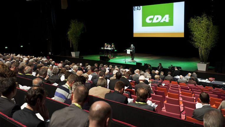 CDA-leden wonen het partijcongres bij in het congrescentrum Vredenburg Leidsche Rijn in Utrecht. Archieffoto. © Beeld
