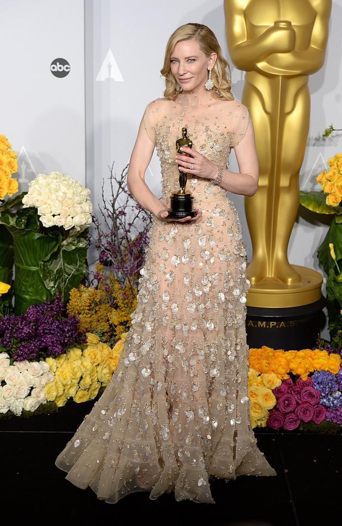 """Cate Blanchett récompensée pour son interprétation dans """"Blue Jasmine"""", en 2014."""