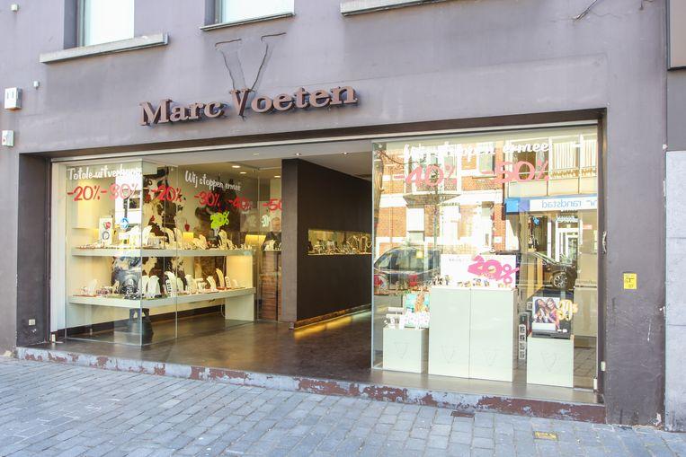 De winkel van Marc Voeten in de Nieuwstraat in Geel