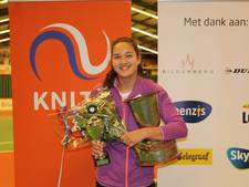 Merel Hoedt uit Best is Nederlands kampioen indoor tennis