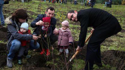 Geboortebos in Heule krijgt 814 boompjes