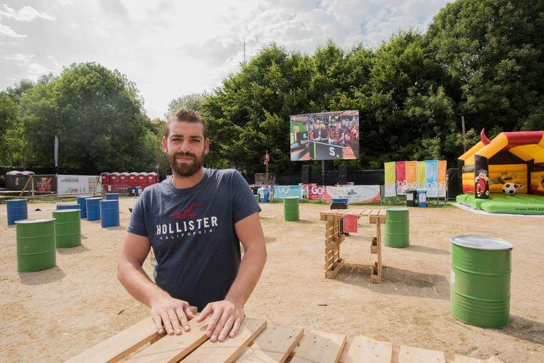 Organisator Steven Meulenaere in het WK-dorp.